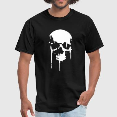 Skull-shirt SKULL BLOOD SPLATTER METAL PUNK Vector - Men's T-Shirt