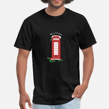 Telephone Booth Cute london christmas telephone booth gift present - Men's T-Shirt