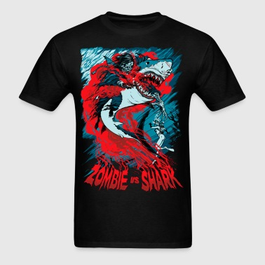 Shark Vs Zombie - Men's T-Shirt