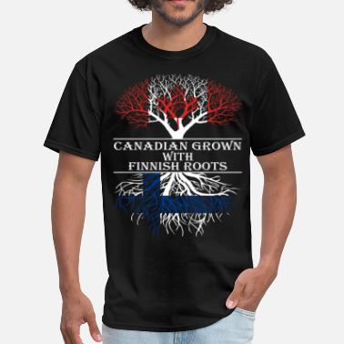 Finnish Roots Canadian Grown With Finnish Roots - Men's T-Shirt