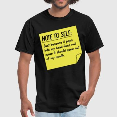 Expression Note to self - Men's T-Shirt