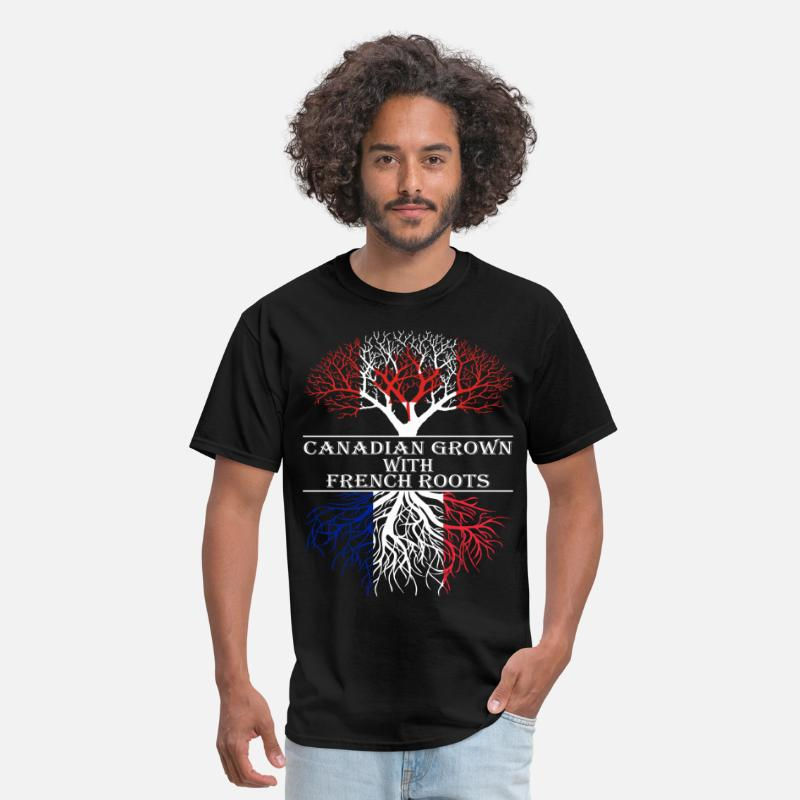 Canadian T-Shirts - Canadian Grown With French Roots - Men's T-Shirt black