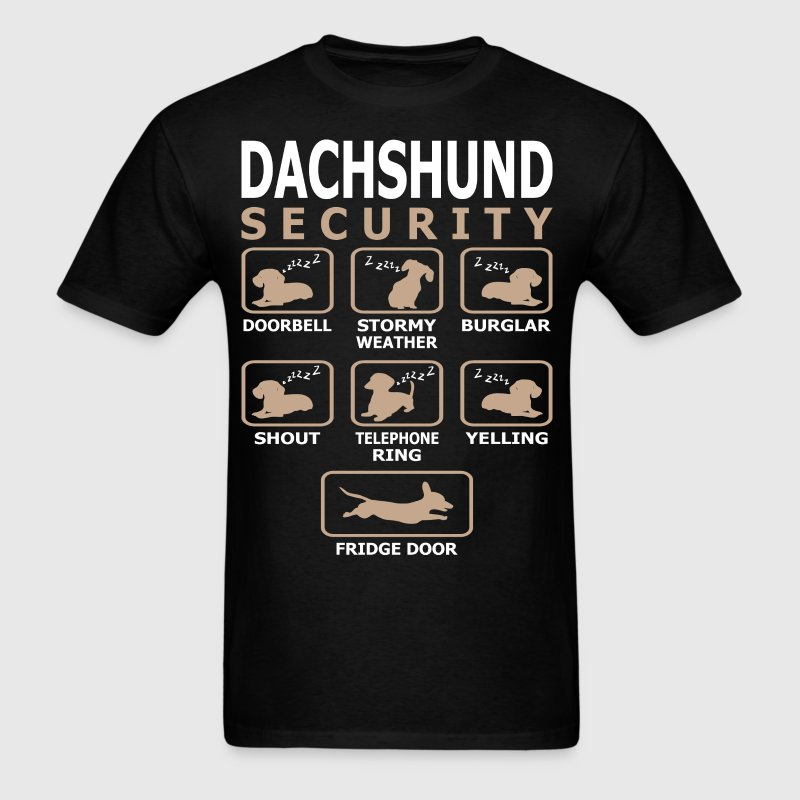 Dachshund Dog Security Pets Love Funny Tshirt - Men's T-Shirt
