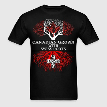 Canadian Grown With Swiss Roots - Men's T-Shirt