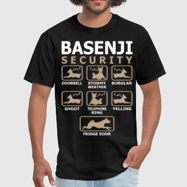 Basenji Dog Security Pets Love Funny Tshirt - Men's T-Shirt