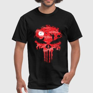 Blood Red Skull Red Night Skull - Men's T-Shirt