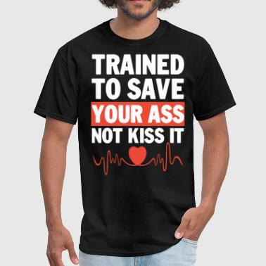 One-punch Man trained to save your ass not kiss it gym - Men's T-Shirt