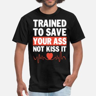 Goku Training trained to save your ass not kiss it gym - Men's T-Shirt