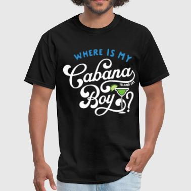 Tattoos Sportswear where is my cabana island jay bou drink swim holid - Men's T-Shirt