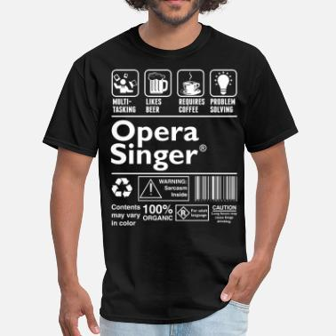 Opera Opera Singer Multitasking Beer Coffee Problem - Men's T-Shirt