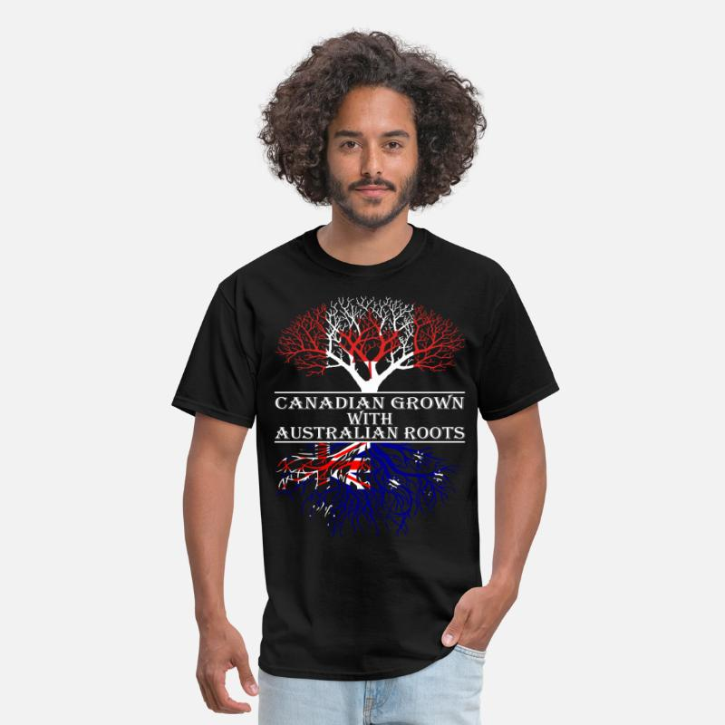 Canada T-Shirts - Canadian Grown With Australian Roots - Men's T-Shirt black