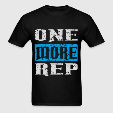 one more rep white blue - Men's T-Shirt