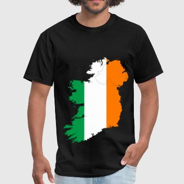 Ireland Map Ireland Flag Map - Men's T-Shirt