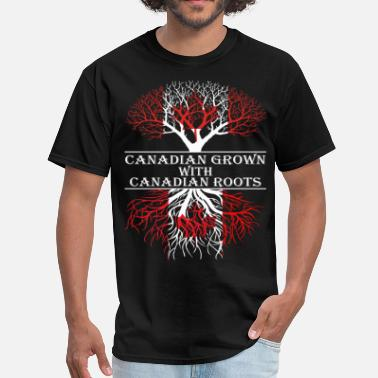 Canadian Wildlife Canadian Grown With Canadian Roots - Men's T-Shirt