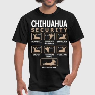 Chihuahua Dog Security Pets Love Funny Tshirt - Men's T-Shirt
