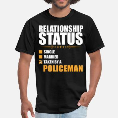 Status Relationship Status Single Married Policeman - Men's T-Shirt