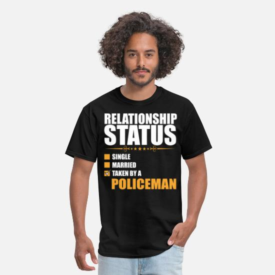 Status T-Shirts - Relationship Status Single Married Policeman - Men's T-Shirt black