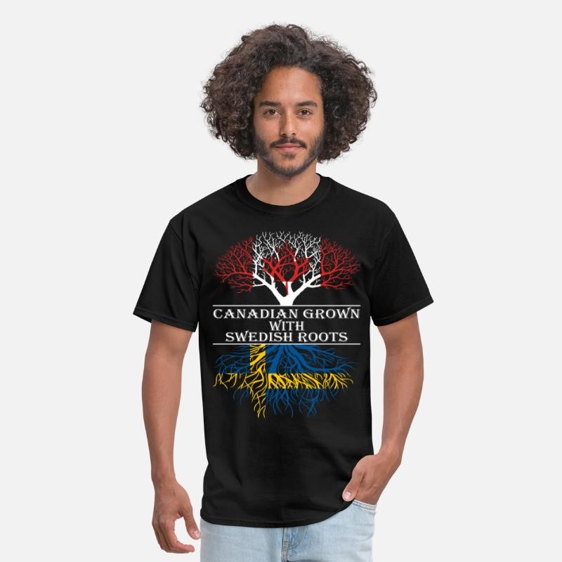 Canada T-Shirts - Canadian Grown With Swedish Roots - Men's T-Shirt black