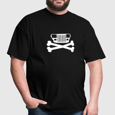 Jeep YJ Wrangler Grille and Crossbones  - Men's T-Shirt