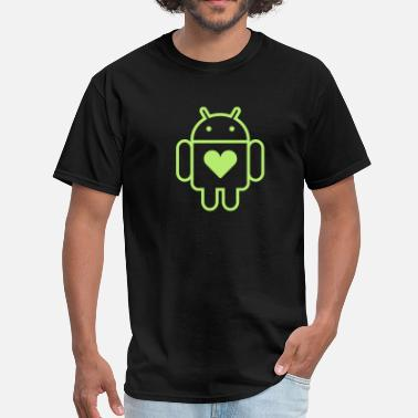 Android Open Source Droid's Heart - Men's T-Shirt