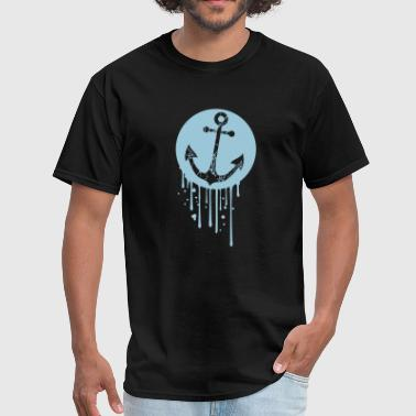 drop circle circle round tears scratch boat boat s - Men's T-Shirt