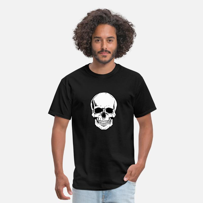 Skeleton T-Shirts - skeleton face - Men's T-Shirt black
