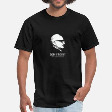 Free State Murray Rothbard Enemy of the State Free Market - Men's T-Shirt