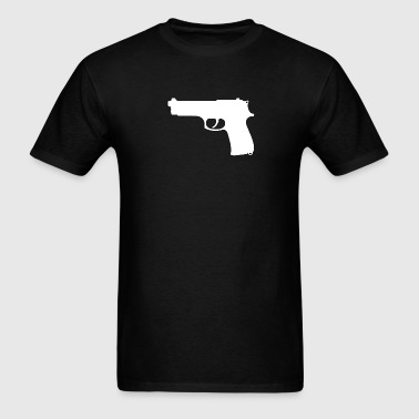 Gun Silhouette White - Men's T-Shirt