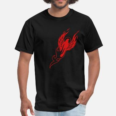 Fire Hawk Phoenix Firebird Reborn 1c - Men's T-Shirt