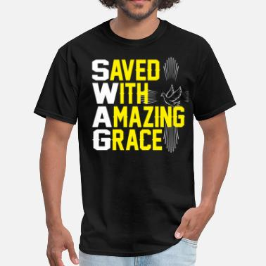 Praying Hands AMAZING GRACE - Men's T-Shirt
