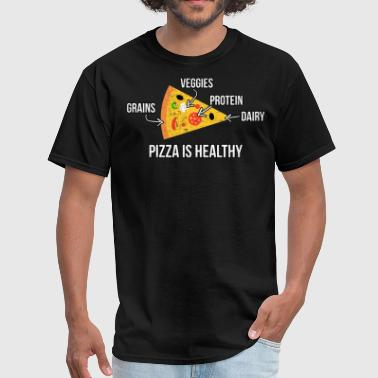 Building Muscle Pizza Is Healthy - Men's T-Shirt