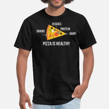 Strength Training Pizza Is Healthy - Men's T-Shirt
