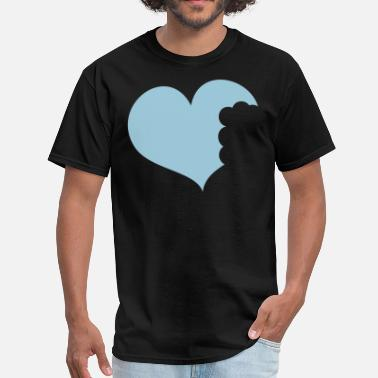 This Heart Is Taken love heart with bites taken out - Men's T-Shirt