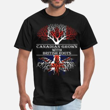 British Canadian Grown With British Roots - Men's T-Shirt