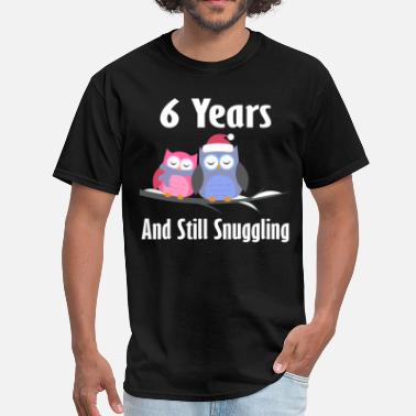 6 Years Together 6th Anniversary Gift Cute - Men's T-Shirt