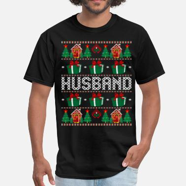Husband For Christmas Husband Ugly Christmas Sweater - Men's T-Shirt