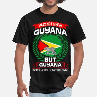 Guyana Guyana Is Where My Heart Belongs Country Tshirt - Men's T-Shirt