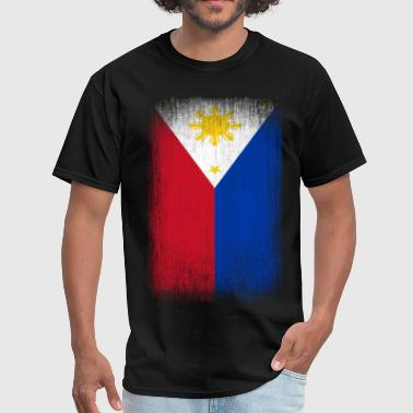 Philippines Filipino Pride Flag Grunge Look - Men's T-Shirt