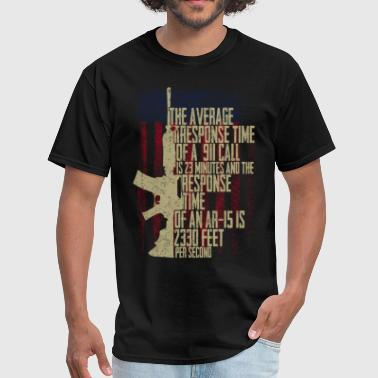 Response time AR15 - Men's T-Shirt