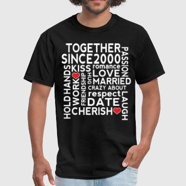 25 Wedding Anniversary 2000 Wedding Anniversary - Men's T-Shirt