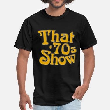 70s Cartoon New That 70s Show Classic TV Show Men s Black 70s - Men's T-Shirt