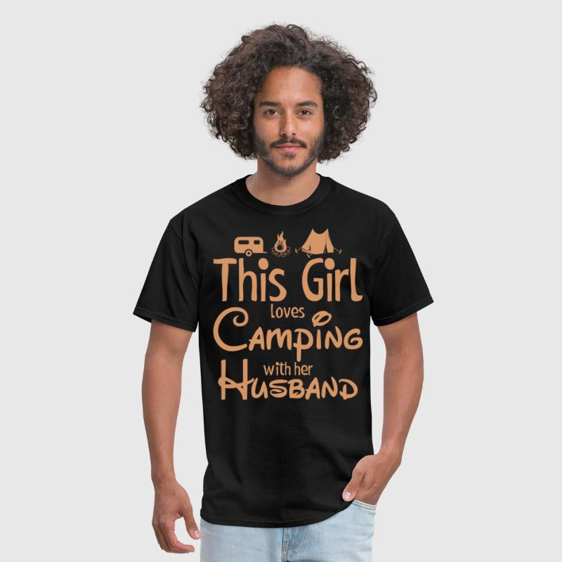 This Girl Loves Camping With Her Husband - Men's T-Shirt