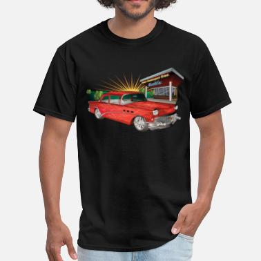 57 Red 57 Chevy Hot Rod - Men's T-Shirt