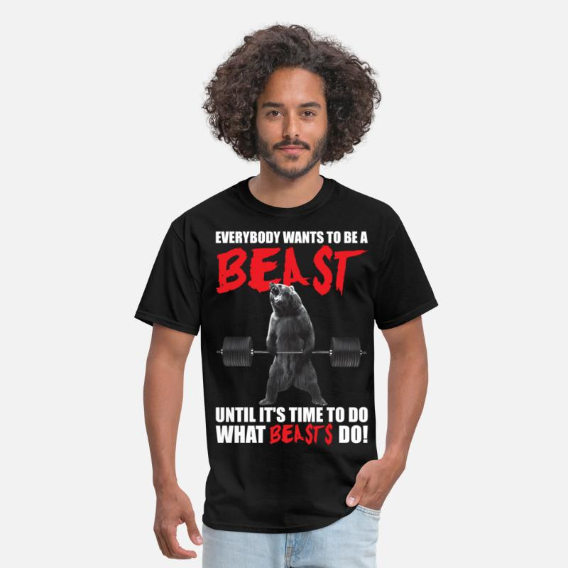Bodybuilding T-Shirts - Everybody Wants To Be A Beast - Men's T-Shirt black