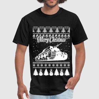 Army Tank Ugly Christmas Sweater - Men's T-Shirt