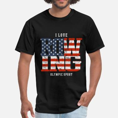 Rowing I Love Rowing USA - Men's T-Shirt