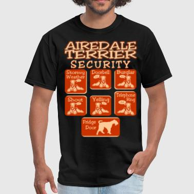 Airedale Terrier Dog Security Pets Funny Tshirt - Men's T-Shirt