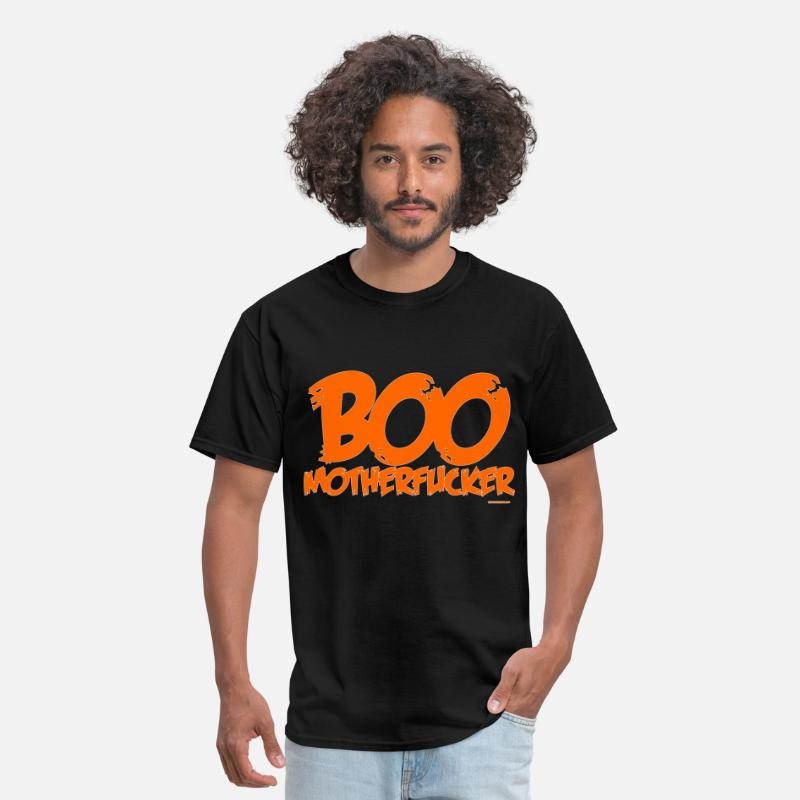 Evil T-Shirts - Boo Motherfucker - Men's T-Shirt black