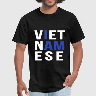 Blues Band I AM VIETNAMESE (blue with no band) - Men's T-Shirt