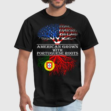 Portuguese Roots American Grown With Portuguese Roots - Men's T-Shirt